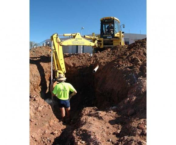 Excavator, February 10, 2005.